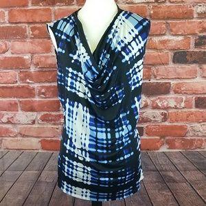 Worthington cowl neck sleeveless blouse